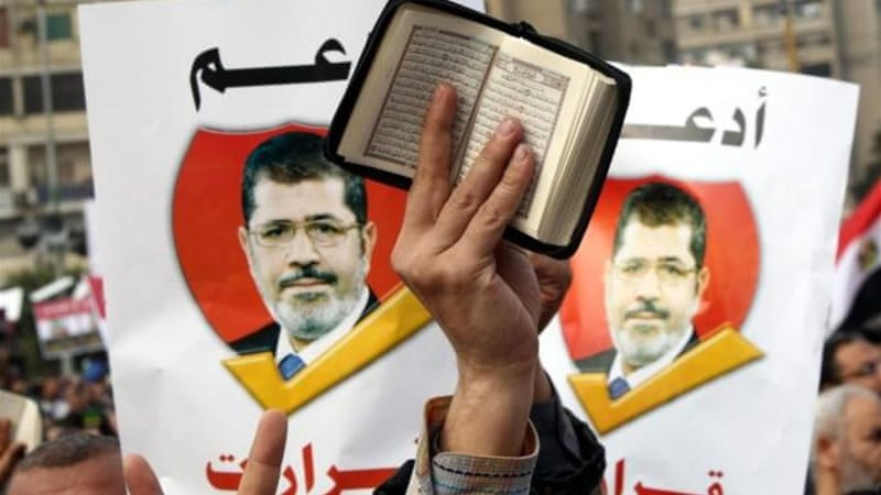 "It is a false to say that voting for Morsi is voting ""yes"" to Islam, as most Egyptians themselves are Muslims [EPA]"