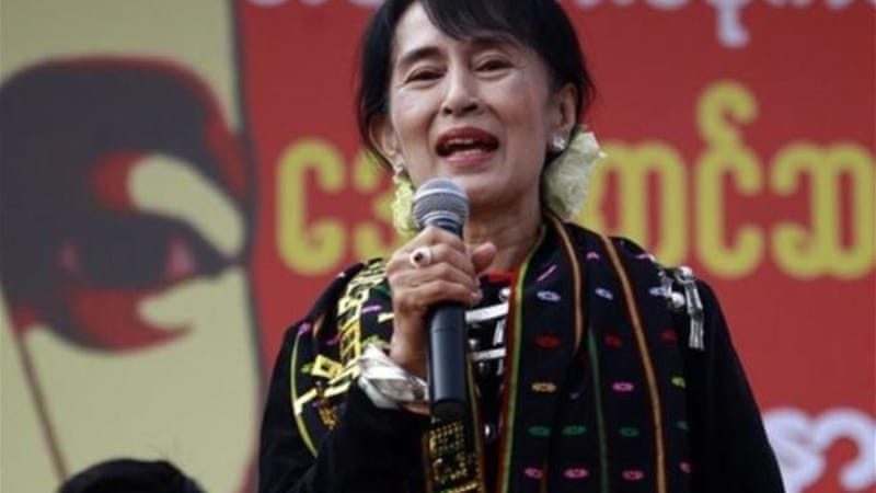 Aung San Suu Kyi will head a 30-member commission to assess whether the mine project should continue [AP]