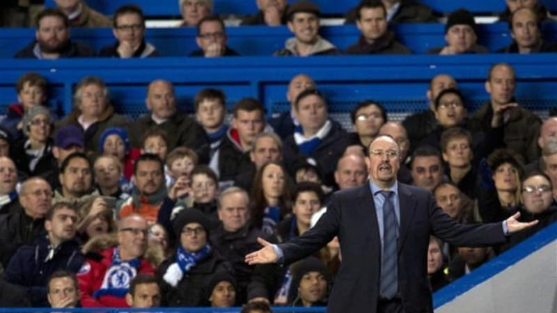 Chelsea fans did not warm to their new manager and bad results have not helped matters [AFP]