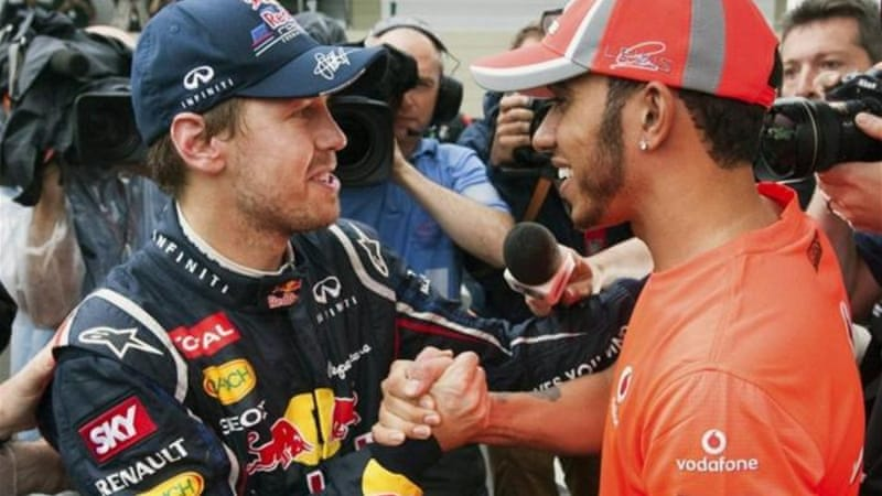 Vettel (L) has contract with Red Bull until end of 2014 and Hamilton (R) has three year deal with Mercedes [EPA]