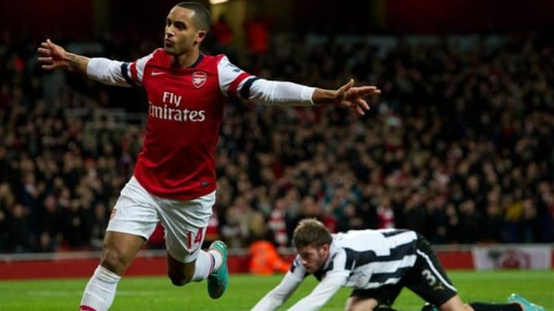Walcott was the man of the moment against Newcastle and has scored 14 goals this season [AP]
