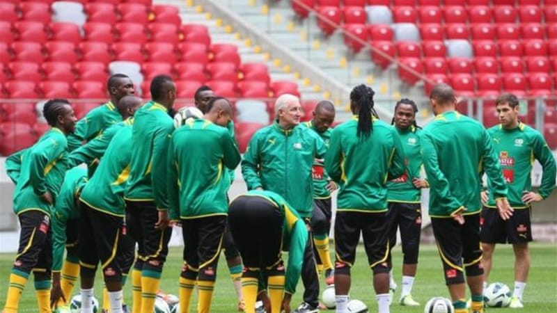 South Africa head coach Gordon Igesund (C) is hoping to bring host nation success at the competition [EPA]