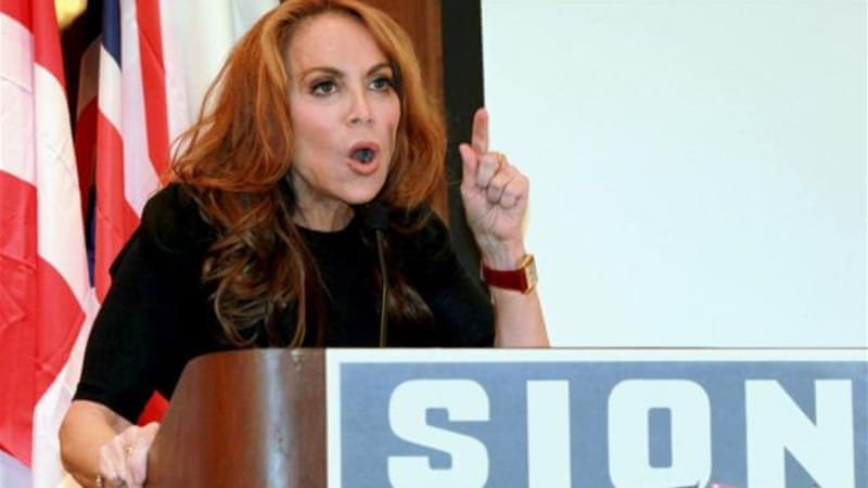 "Proliferate anti-Islam blogger Pamela Geller said she was promised to ""discuss the threat opposed [sic] by Islamists, including those living within our midst"" [AP]"