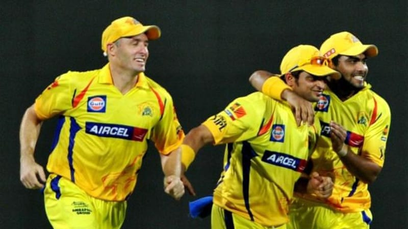 Chennai Super Kings celebrate taking wicket during qualifier victory over Delhi Daredevils [AFP]