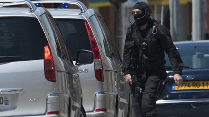 The man took hostages in a bank branch and fired a shot after an armed-robbery attempt went wrong [Reuters]