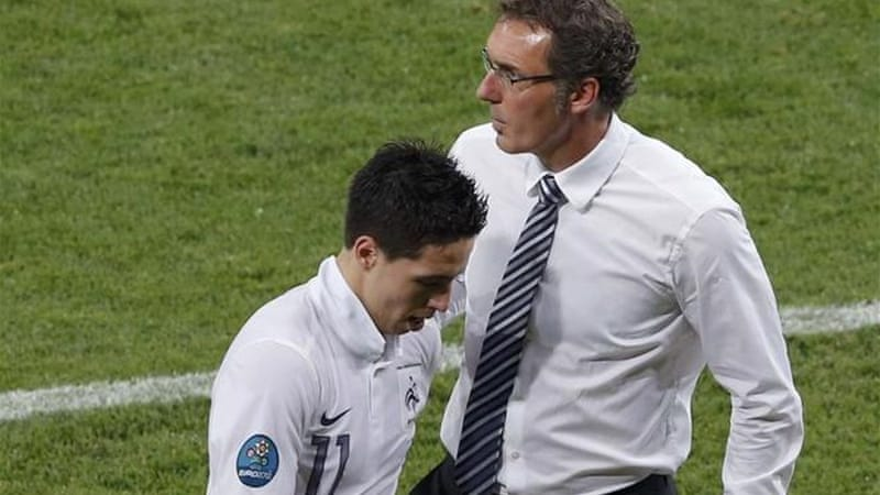 French boss Laurent Blanc (R) admits Man City player was out of order following Spain game [Reuters]