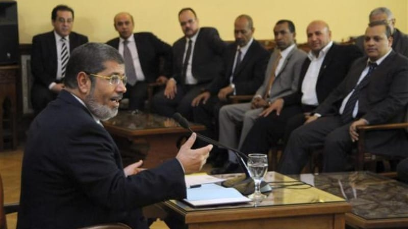 Before taking office, Morsi has been meeting with representatives from different political parties [AP]