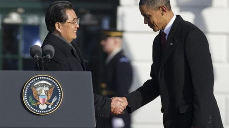 In January 2011, US President Barack Obama and Chinese President Hu Jintao committed to a 'positive' and 'comprehensive' relationship [AFP]