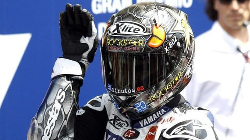 Lorenzo is in pole position to add to the world championship title he won in 2010 [Reuters]
