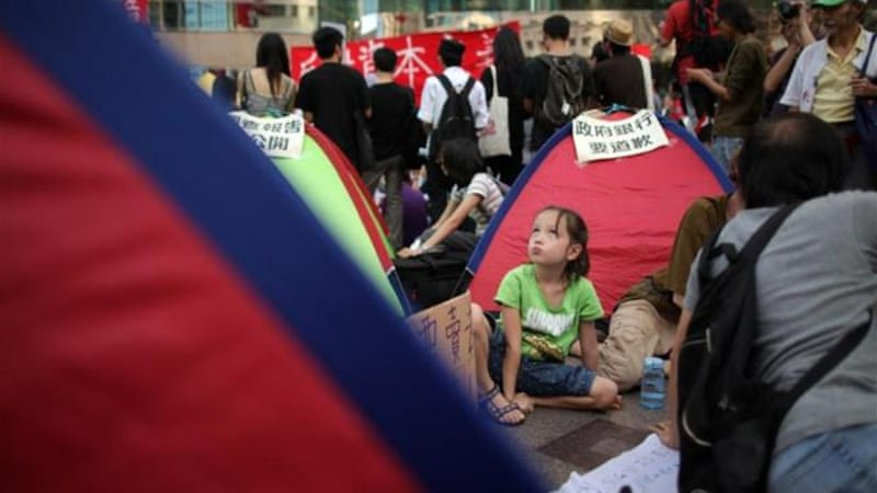 Occupy movement first staged its sit-in ten months ago after similar protests in New York [AFP]