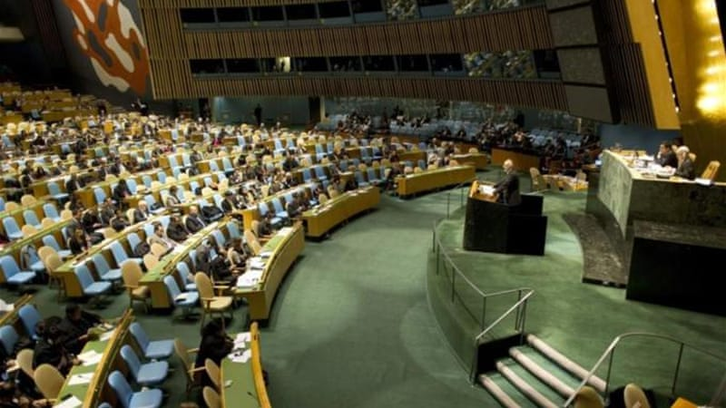 Due to the polarisation of the Security Council, the General Assembly is set to meet to discuss the rule of law [AFP]