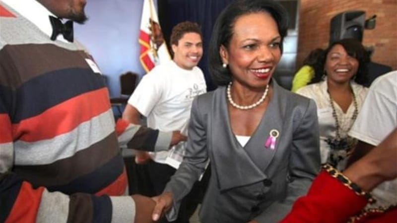 Former Secretary of State Condoleezza Rice is one of two women to join the exclusive club [AP]