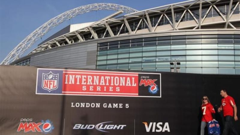 Wembley Stadium has become the UK's home for the annually visiting NFL season [GETTY]