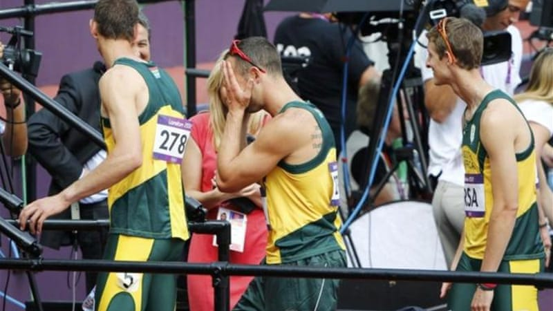 Pistorius believed his Games were over after his teammate Mogawane crashed out of heat [Reuters]
