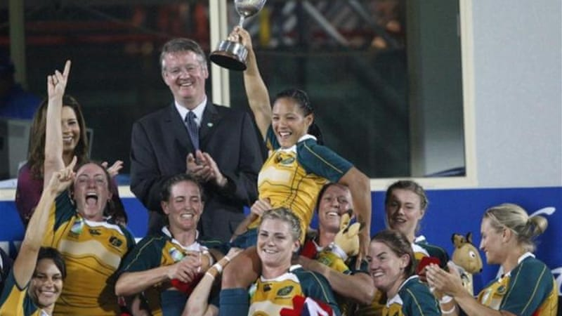 Australia's women won Rugby World Cup Sevens tournament with victory over New Zealand in Dubai in 2009 [Reuters]