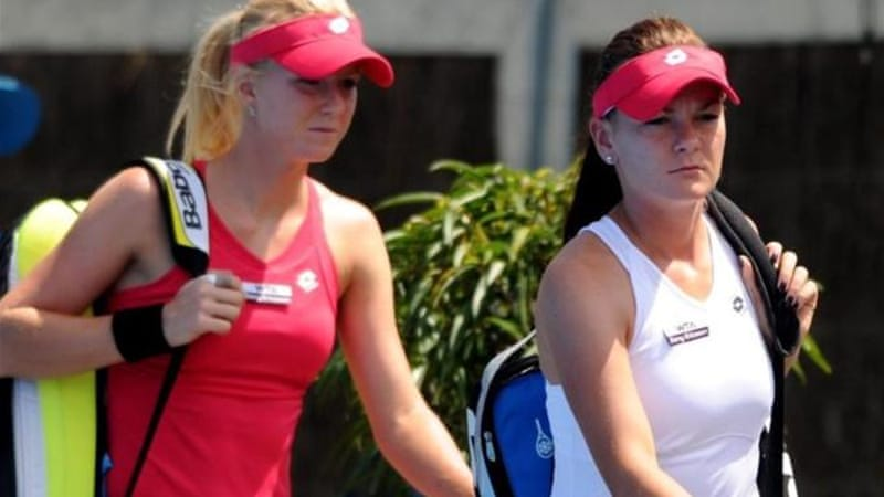 Poland's Urszula Radwanska (L) and sister Agnieszka (R) are working their way up the tennis rankings [EPA]