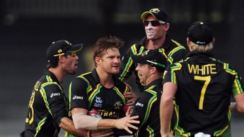 All-rounder Shane Watson (2nd L) ensured Australia got their T20 campaign off to a positive start [AFP]