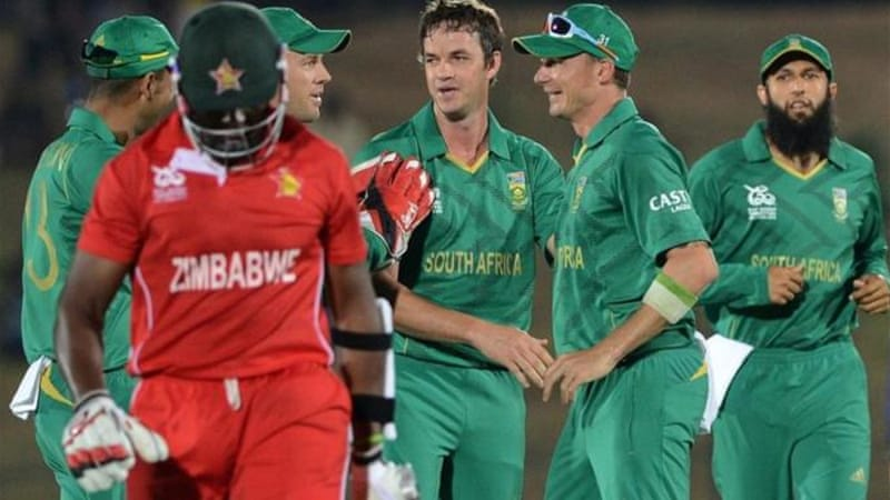 Zimbabwe are out of the T20 tournament after defeat at the hands of South Africa [AFP]
