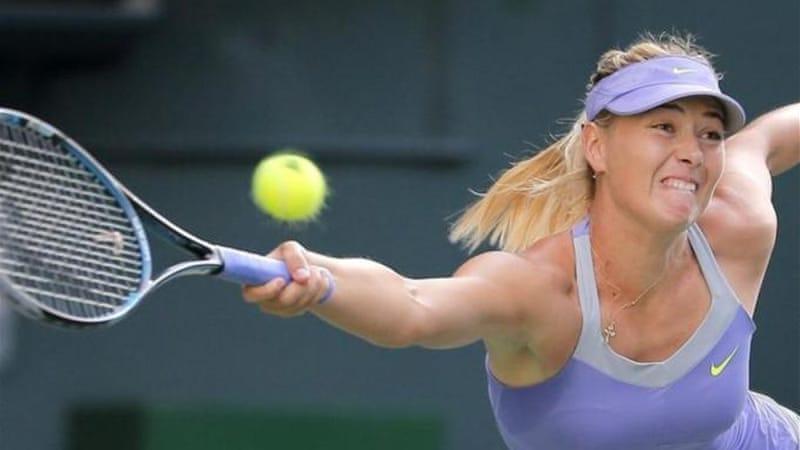 World number two Sharapova overpowered Safarova despite problems with her serve in Tokyo [AP]