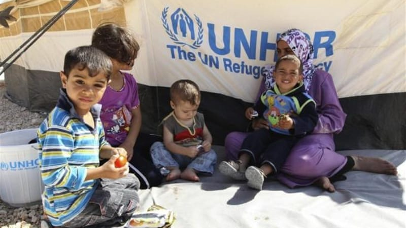 The UN estimates there are around 300,000 refugees in Turkey, Lebanon, Jordan and Iraq [Reuters]