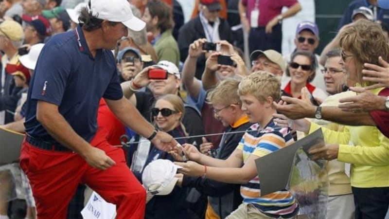 The popularity and experience of Phil Mickelson could do the American Team a world of good [AP]