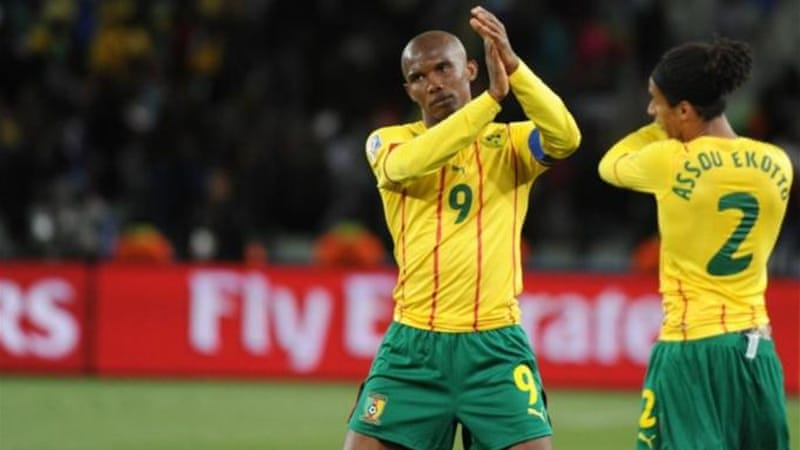 Striker Eto'o (L) returns to the Cameroon setup despite a boycott and labelling officials 'amateurish' [AFP]
