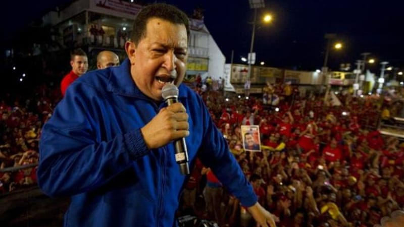 "Chavez, 58, says his ""bourgeois"" foe Capriles will scrap social welfare programmes if elected president [AFP]"