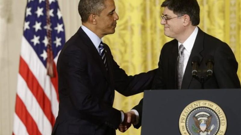 President Barack Obama said that he will nominate current Chief of Staff Jack Lew as the next Treasury Secretary [AP]