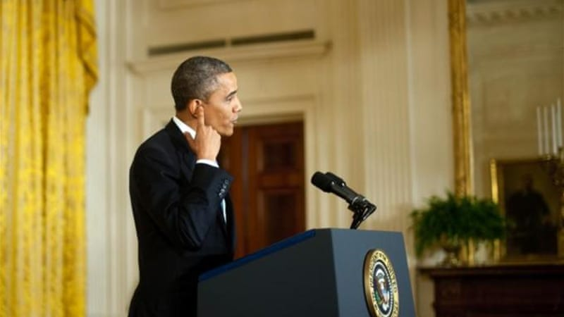 US President Barack Obama recently warned Republicans that he will not negotiate on raising the debt ceiling [AFP]