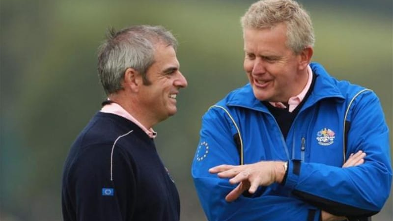 McGinley (L) was vice-captain to Montgomerie (R) in the 2010 Ryder Cup which Europe won [GALLO/GETTY]
