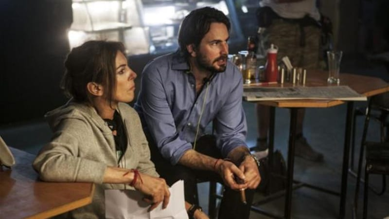 "Director Kathryn Bigelow and Writer Mark Boal of 'Zero Dark Thirty' allege that they wanted to keep the film as accurate as possible and say it is based on ""firsthand accounts of actual events"" [AP]"