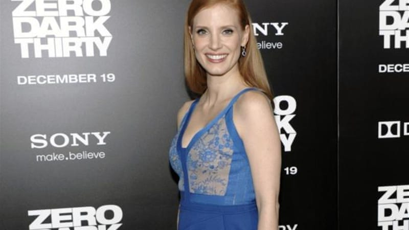 Actress Jessica Chastain plays the lead role in Zero Dark Thirty as vengeful CIA operative Maya [AP]