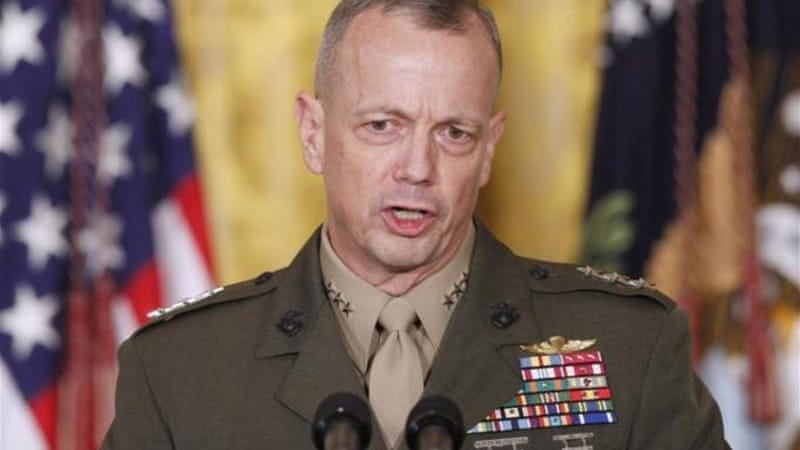 General Allen had been accused of wrongdoing linked to a sex scandal that forced CIA chief David Petraeus to resign [AP]