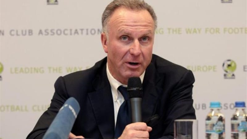 European Club Association chairman Rummenigge says it is 'not logical' for club season to take place over winter [EPA]