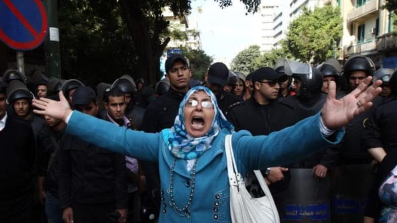 Many Egyptians have criticised the new constitution that Morsi says ensures freedom of the press [AFP]