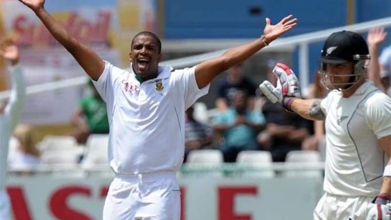 Philander (L) has started his Test career in phenomenal form with 74 wickets in just 13 matches [AFP]