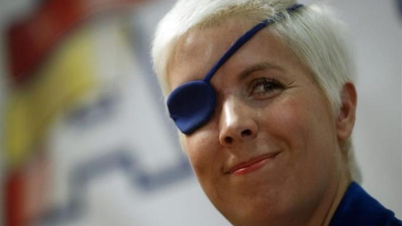 De Villota lost her right eye and fractured her skull in a horrific accident at a straight-line test in England [Reuters]