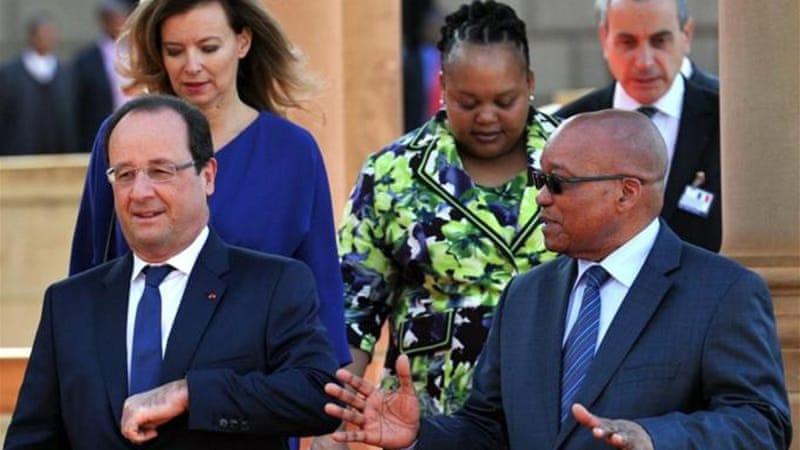 French officials are hoping President Zuma will help facilitate an AU peacekeeping force to the CAR [EPA]