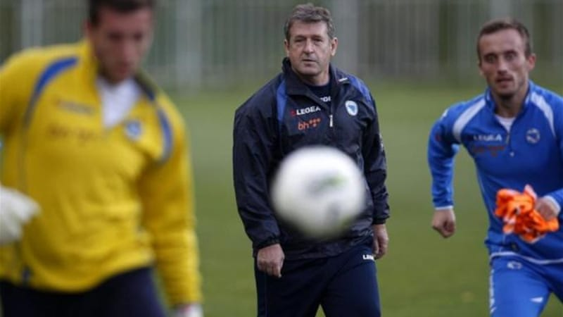 Bosnia-Hercegovina coach Safet Susic has taken his team to the brink of a first World Cup appearance [Reuters]
