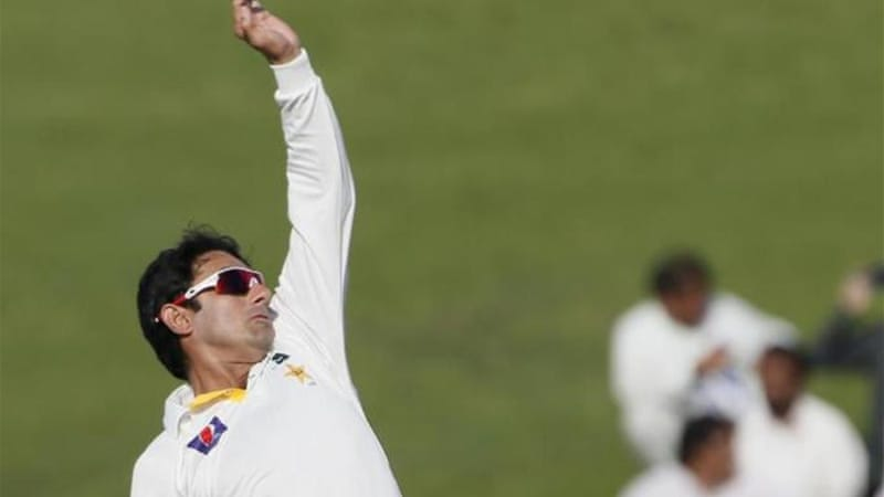 Pakistani bowler Saeed Ajmal skittled captain Graeme Smith as South Africa crumbled [AFP]