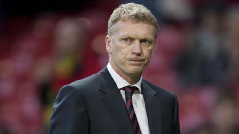 David Moyes' hopes of quelling doubts over his leadership of United took a blow on Saturday [AP]