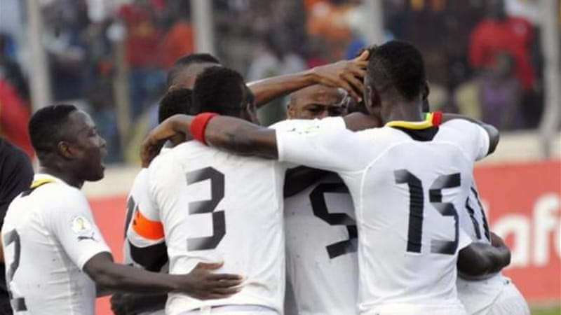 Ghana took command of their World Cup qualifier against Egypt in Kumasi with a 6-1 drubbing [AFP]