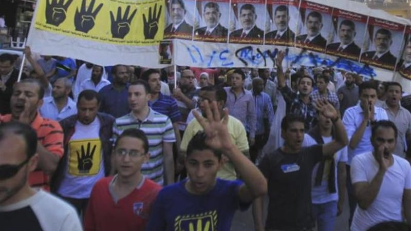 Friday's rallies were the start of a week-long campaign until November 4 when Morsi is to appear in court [Reuters]