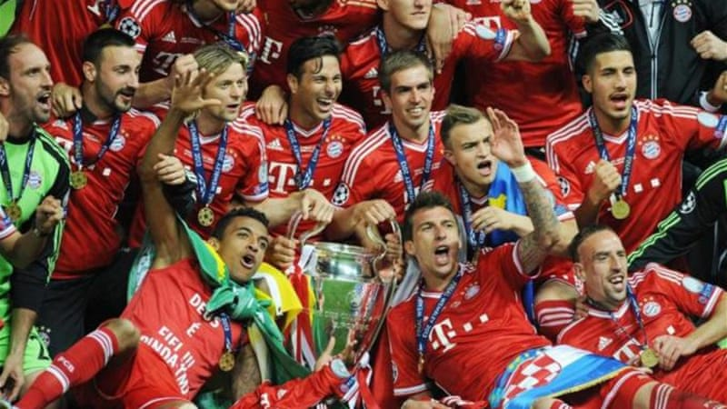 Under the guidance of coach Jupp Heynckes, Bayern Munich celebrated Champions League victory over Dortmund [EPA]