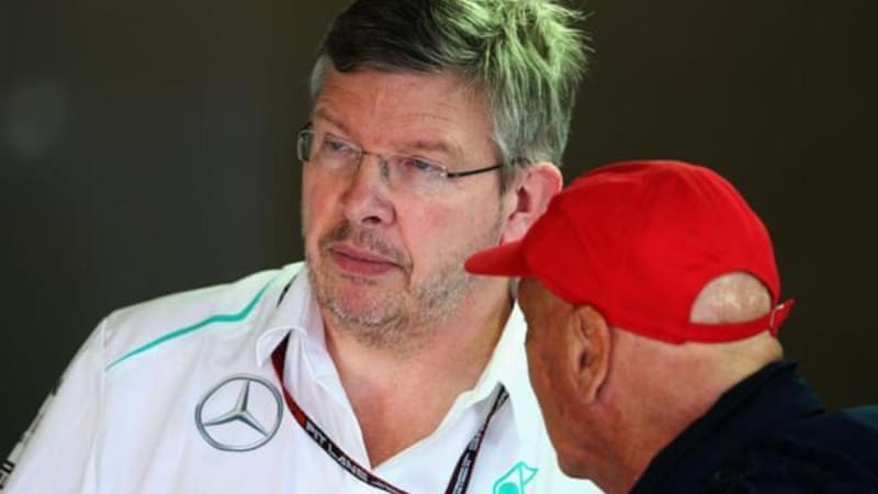 On his way? Niki Lauda (R) will be having a serious chat with Mercedes GP Team Principal Ross Brawn (L) [GALLO/GETTY]