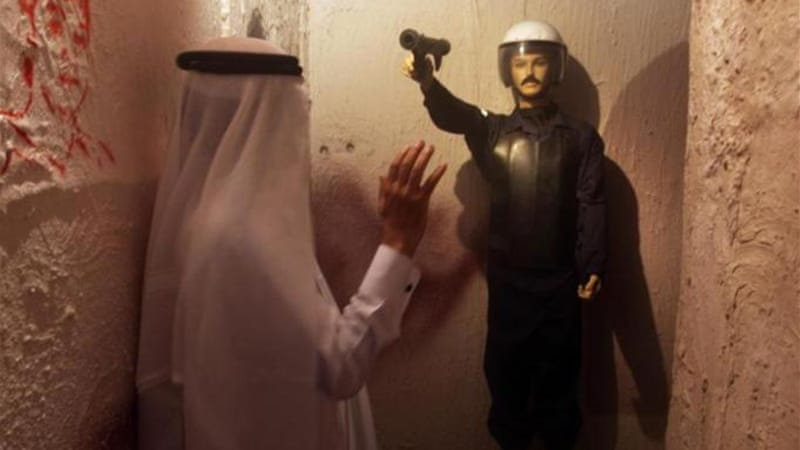 The raid came two days after the opening of the exhibition, which included scenes depicting Bahrain's unrest [AP]