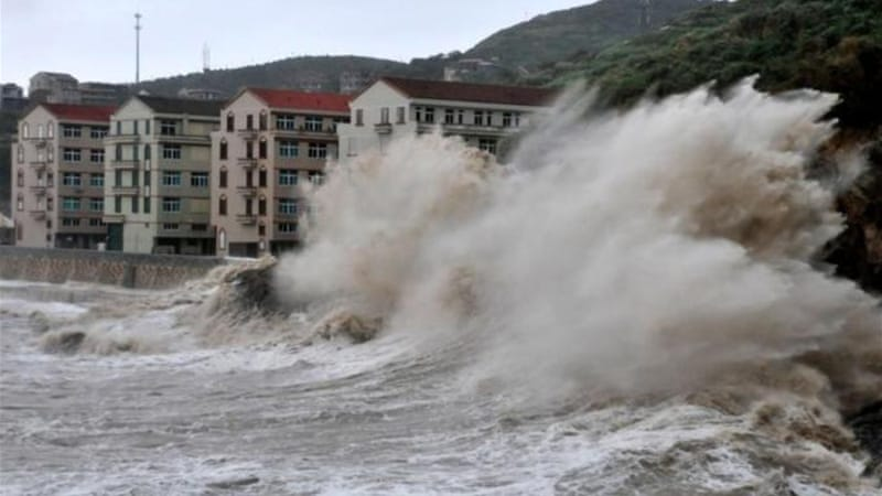 Typhoon Fitow hit China just two weeks after Typhoon Usagi wreaked havoc in the region [AFP]