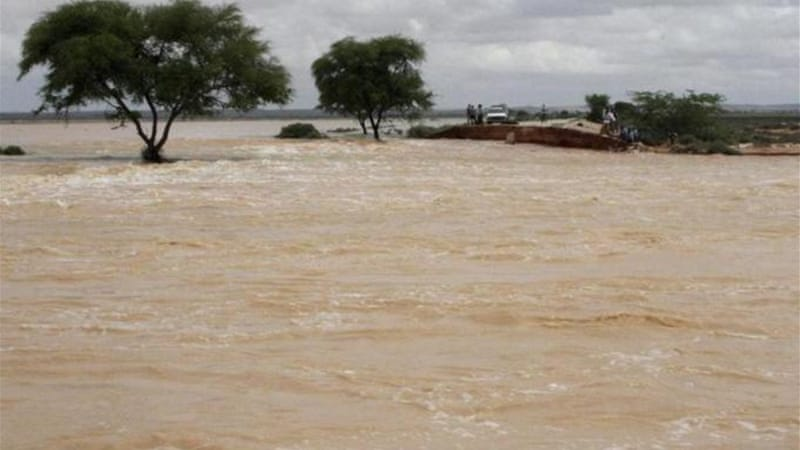 Many bridges were destroyed by the flooding [Reuters]