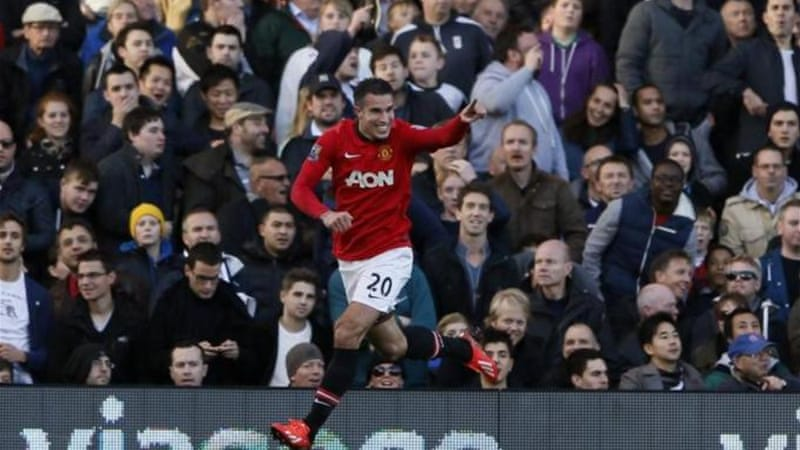 Robin van Persie became leading Dutch goalscorer in Premier League after scoring second for United [Reuters]