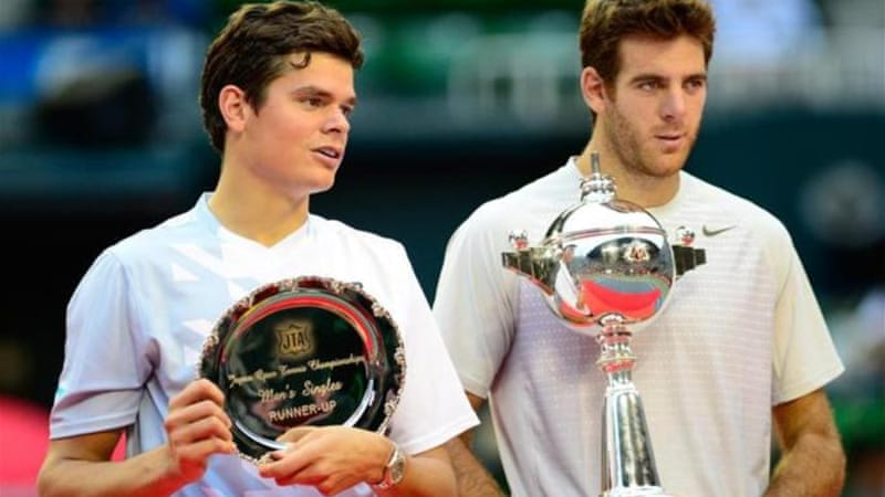 Del Potro (R) has won four titles this season, including victory in Japan over Milos Raonic [AFP]